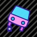 screw, car, automobile, jack, auto, contour, concept icon