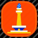architecture, city, cityscape, indonesia, jakarta, landmark, monument icon