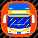 bus, city, cityscape, indonesia, jakarta, landmark, transport icon