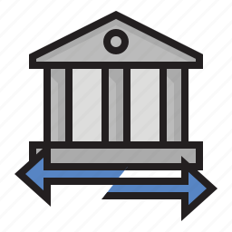 bank, bank transfer, banking, finances icon