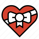 chocolates, heart, love, ribbon, romance, valentine icon