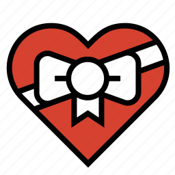 chocolates, heart, love, ribbon, romance, valentine icon