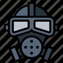 gas, mask, poison, toxic icon