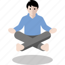 float, levitate, levitation, meditation, yoga icon