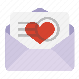 e-mail, email, heart, love letter, mail, valentine icon