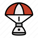 capsule, parachute, rocket, space, splashdown icon