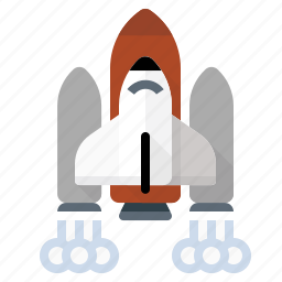 launch, nasa, rocket, space shuttle, space travel icon