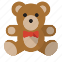 animal, childhood, teddy bear, toy icon