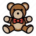 animal, childhood, stuffed animal, teddy bear, toy icon