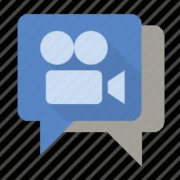 chat, movie, talk, video icon