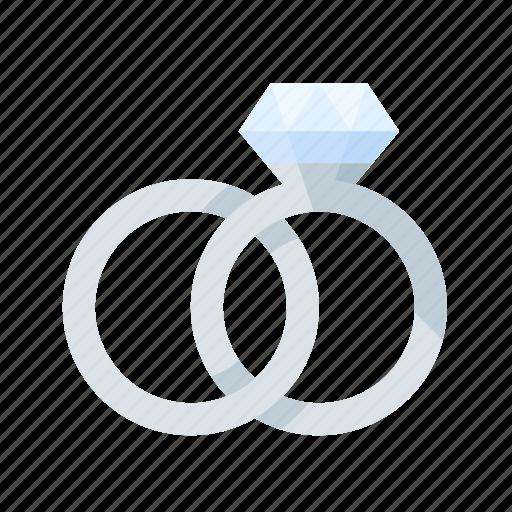 engagement, love, platinum, rings, romance, wedding icon