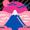 famous, fuji, japan, landmark, mountain