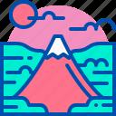 famous, fuji, japan, landmark, mountain icon