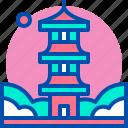 castle, japan, japanese, landmark, pagoda icon