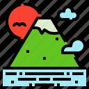 fuji, hill, japan, landscape, mountain, travel icon