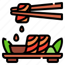 Asian Fish Food Japanese Restaurant Sushi Icon
