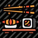 fish, food, japanese, restaurant, sushi icon