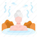 hot, onsen, pool, relax, spa, spring, treatment