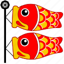 asia, asian, carp fish, culture, fish, japan, japanese icon