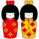 asia, asian, culture, doll, japan, japanese, kokeshi icon
