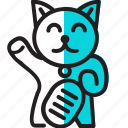 cat, gold, japan, rich, sign, success icon
