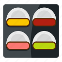 californiaroll, different sushi, eggroll, food, japan, japanese, sashimi icon