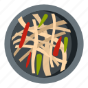 asian salad, food, japan, japanese, pepper, salad, sashimi icon