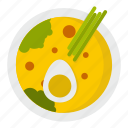 food, japan, japanese, miso soup, pepper, salad, sashimi icon