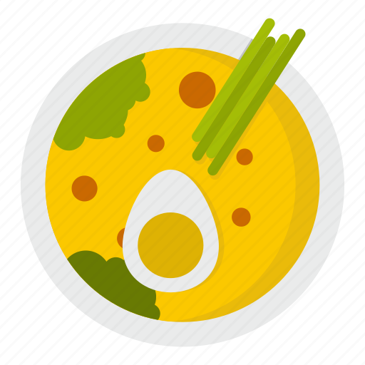 food, japan, japanese, miso soup, pepper, salad, sashimi icon