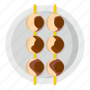 asian shashlik, food, japan, japanese, maguro, maki, restaurant icon