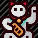 cartoon, cat, cute, japan, maneki, neko, spiritual icon