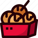 cooking, food, japan, snack, takoyaki, tradition icon