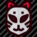 costume, fox, japan, japanese, kitsune, mask, spirit icon