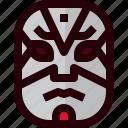 costume, drama, japan, japanese, kabuki, mask, theater icon