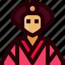 clothes, crown, empress, japan, person, princess, woman icon