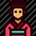 avatar, costume, female, japan, person, traditonal, woman icon