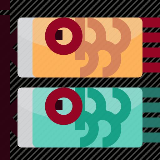 carp, culture, fish, flag, japan, traditional icon