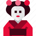 avatar, clothes, geisha, girl, japan, person, woman icon