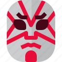 costume, drama, japan, japanese, kabuki, mask, theater icon