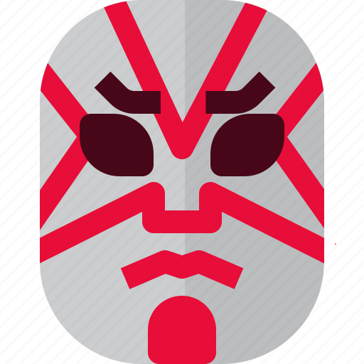 Costume, drama, japan, japanese, kabuki, mask, theater icon - Download on Iconfinder