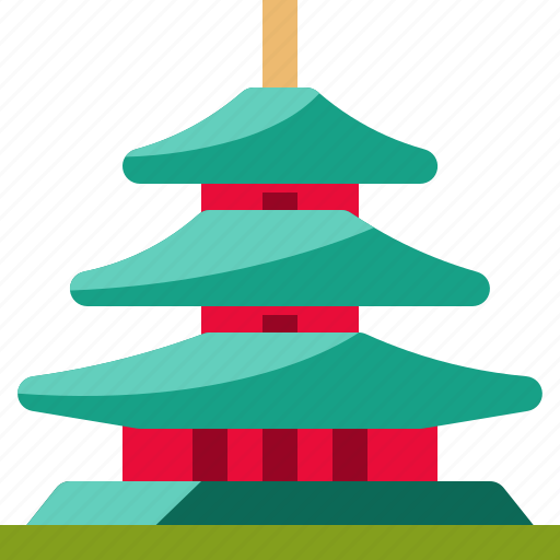 Architecture, building, japan, landmark, monument, pagoda, religion icon - Download on Iconfinder