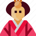 avatar, crown, empress, japan, person, princess, woman icon