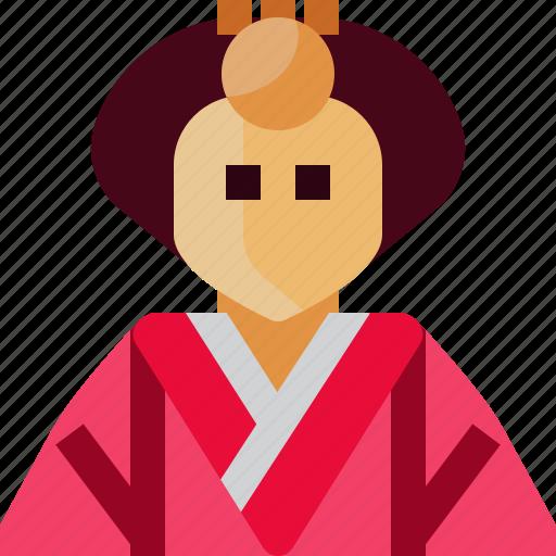 avatar, crown, empress, japan, person, princess, woman icon