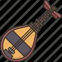 biwa, music, instrument, japanese, acoustic