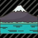 fuji, mountain, japan, landmark, nature
