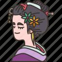 geisha, japanese, lady, costume, traditional