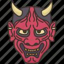 hannya, demon, devil, mask, face