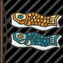 koinobori, decoration, fish, flag, culture