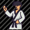 japanese, japan, art, karate, punch, martial icon