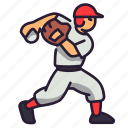 baseball, league, throw, base, japan, pitcher, ball icon